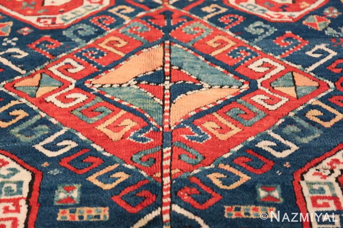 Tribal Gallery Size Runner Antique Caucasian Kazak Rug 48934 Central Medallion Nazmiyal