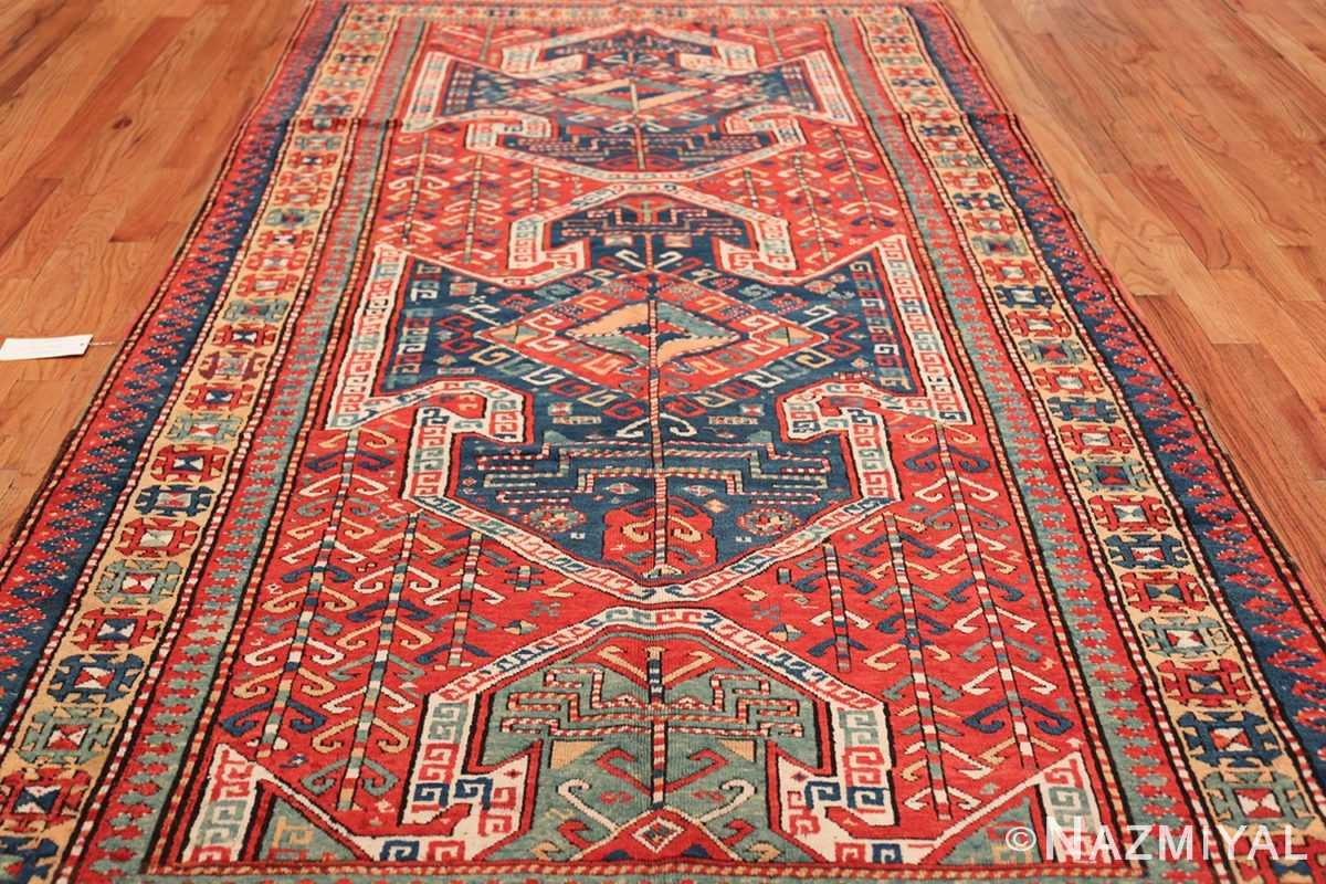 Tribal Gallery Size Runner Antique Caucasian Kazak Rug 48934 Field Wide Shot Nazmiyal