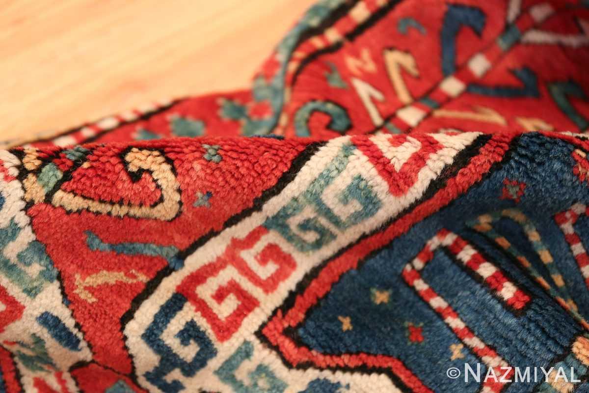 Tribal Gallery Size Runner Antique Caucasian Kazak Rug 48934 Red Pile Nazmiyal