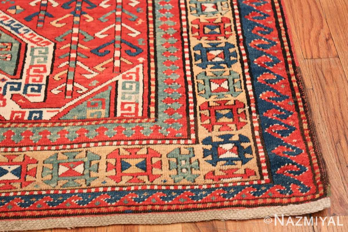 Tribal Gallery Size Runner Antique Caucasian Kazak Rug 48934 Side Corner Nazmiyal