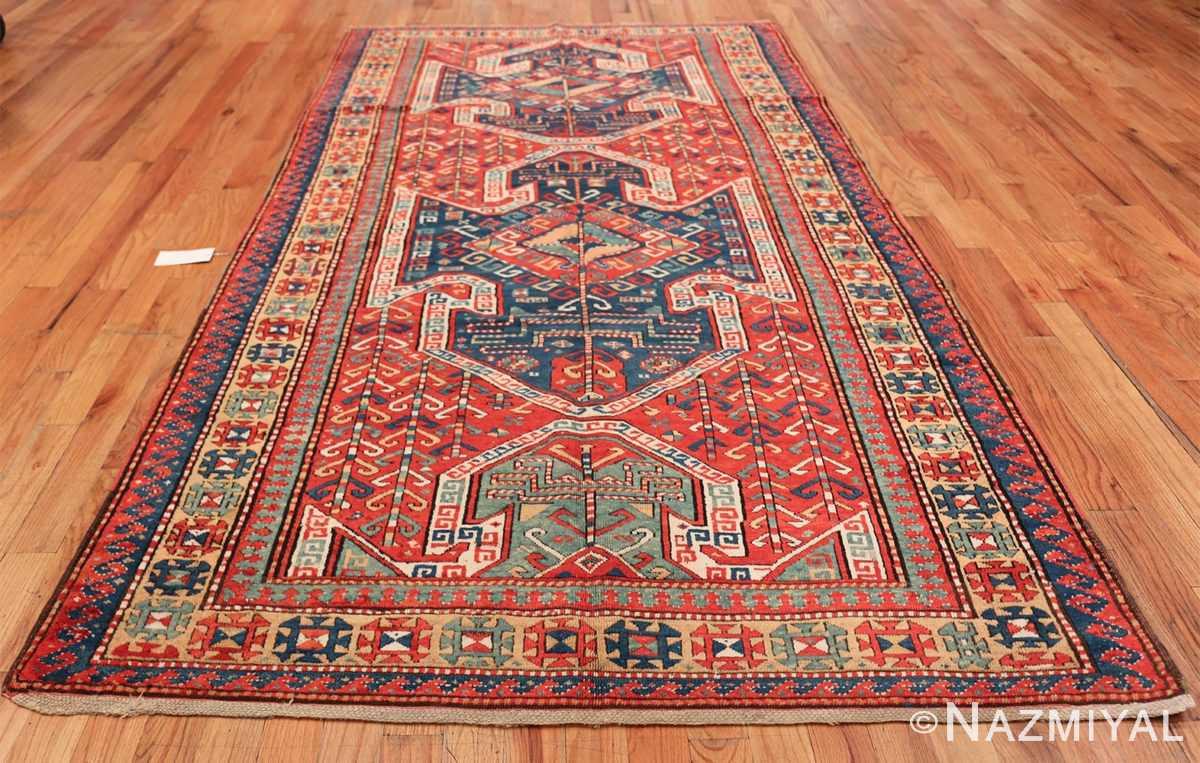 Tribal Gallery Size Runner Antique Caucasian Kazak Rug 48934 Whole Design Nazmiyal