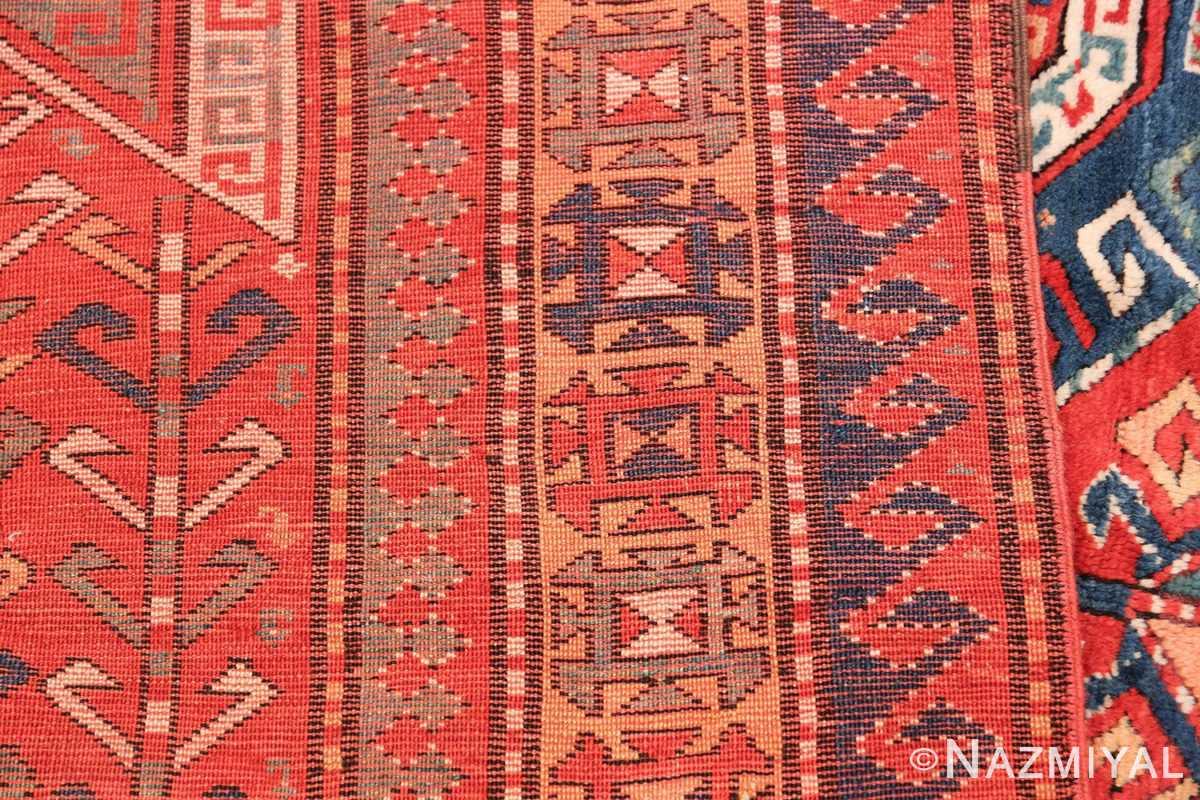 Tribal Gallery Size Runner Antique Caucasian Kazak Rug 48934 Woven Knots Nazmiyal