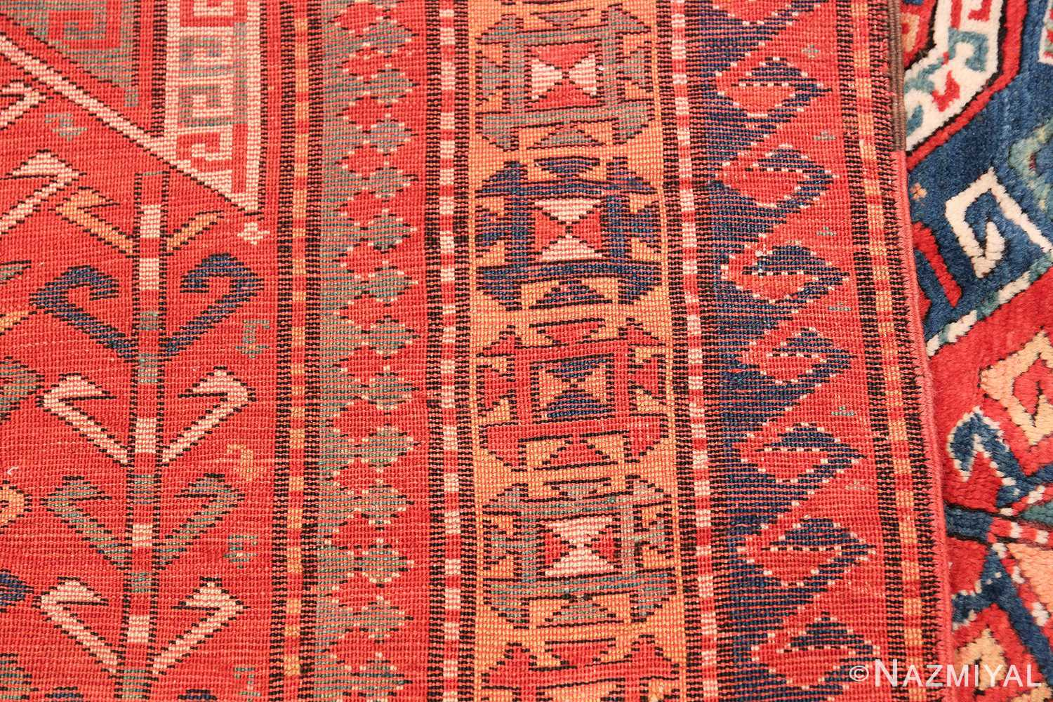 Tribal Gallery Size Runner Antique Caucasian Kazak Rug 48934 Woven Knots Nazmiyal