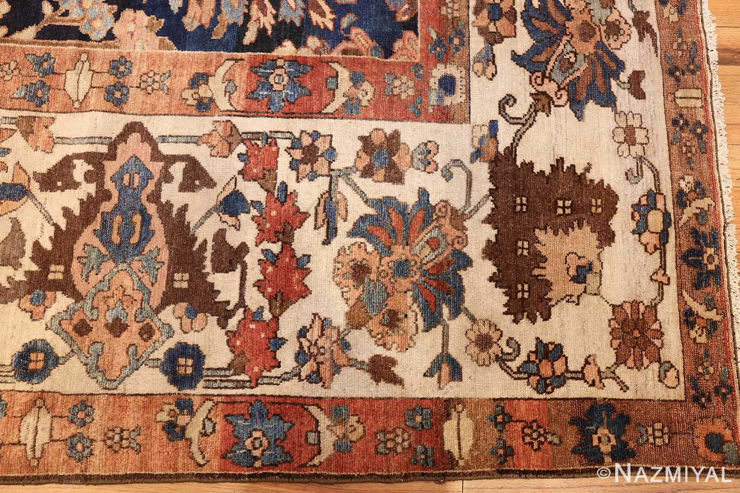 unusual and rare antique tribal persian malayer rug 48879 border Nazmiyal