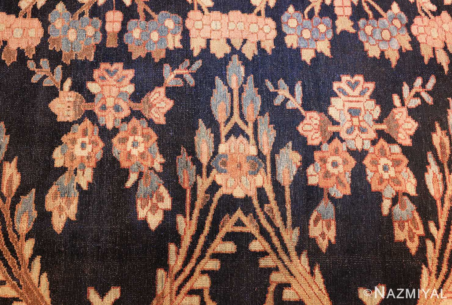 unusual and rare antique tribal persian malayer rug 48879 flowers Nazmiyal