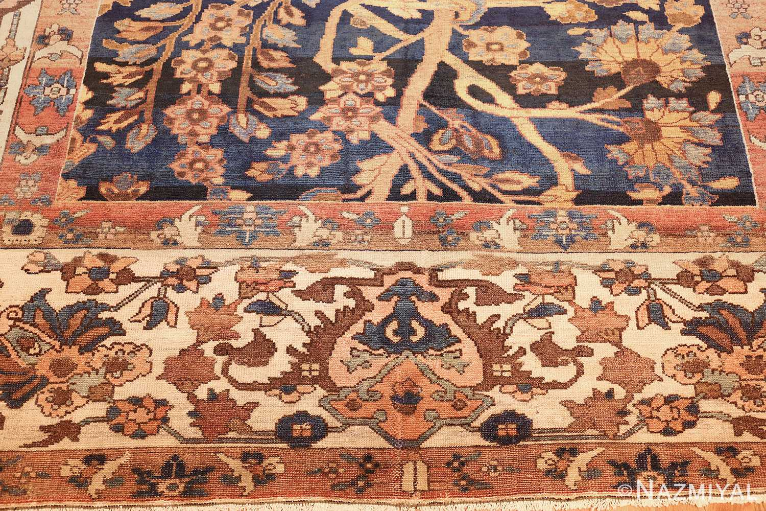 unusual and rare antique tribal persian malayer rug 48879 top Nazmiyal