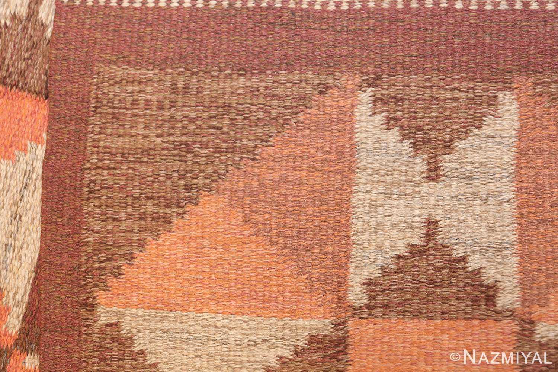 vintage flat woven scandinavian swedish kilim rug 48897 knots Nazmiyal