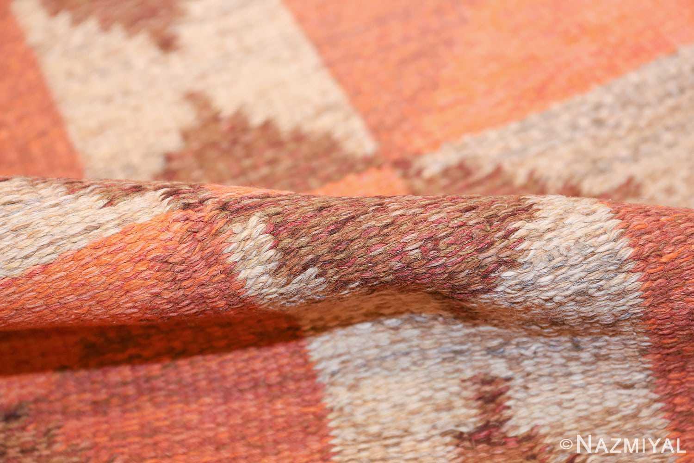 vintage flat woven scandinavian swedish kilim rug 48897 pile Nazmiyal