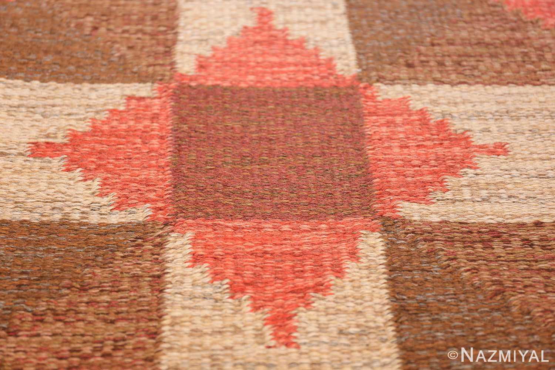 vintage flat woven scandinavian swedish kilim rug 48897 star Nazmiyal
