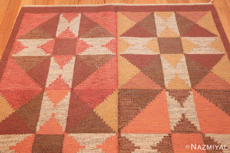 vintage flat woven scandinavian swedish kilim rug 48897 top Nazmiyal