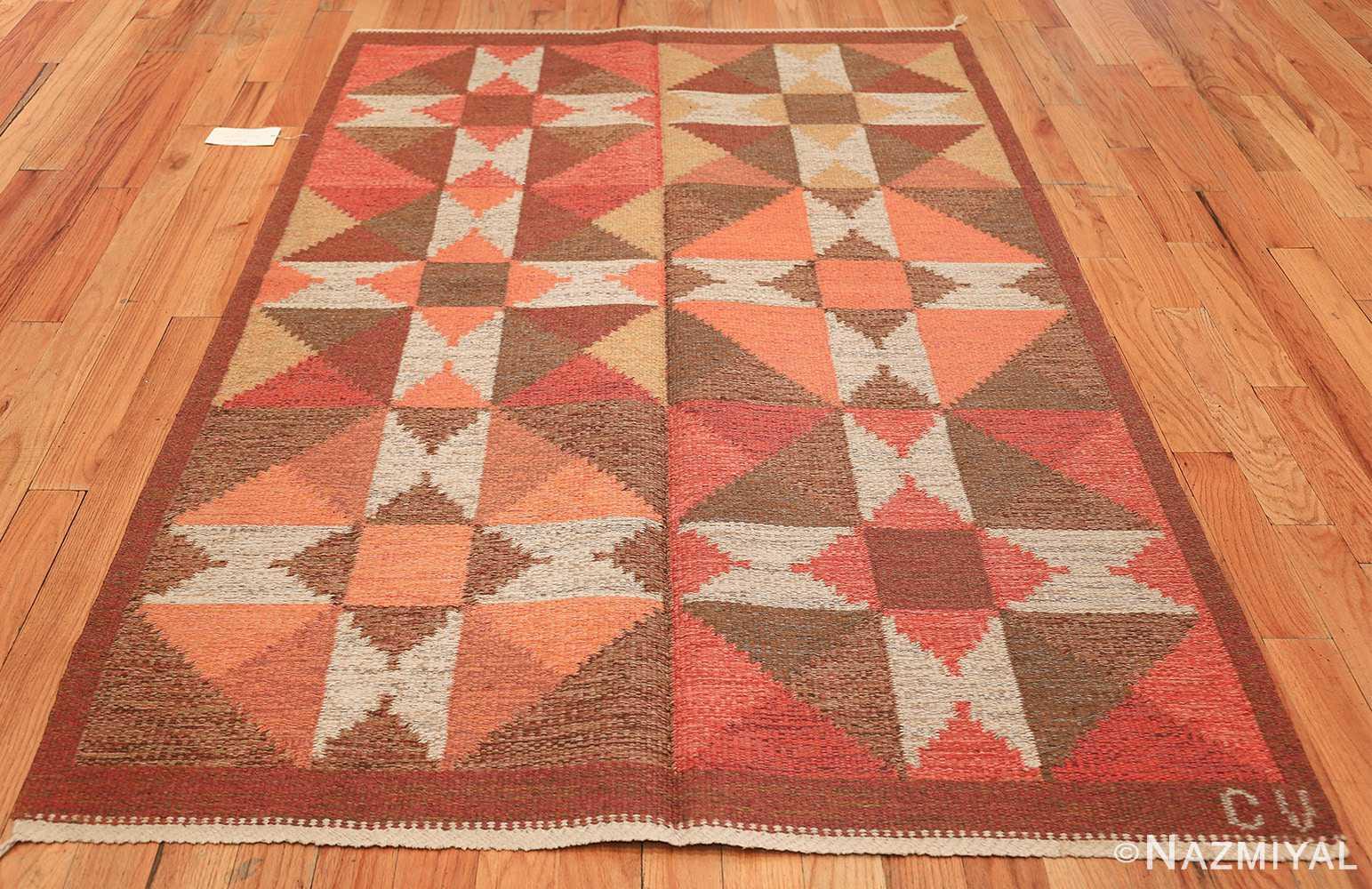 vintage flat woven scandinavian swedish kilim rug 48897 whole Nazmiyal