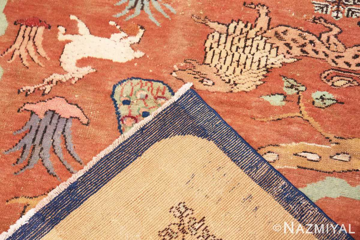 Weave Antique Small Animal Scene Mazlatapan Indian rug 48432 by Nazmiyal