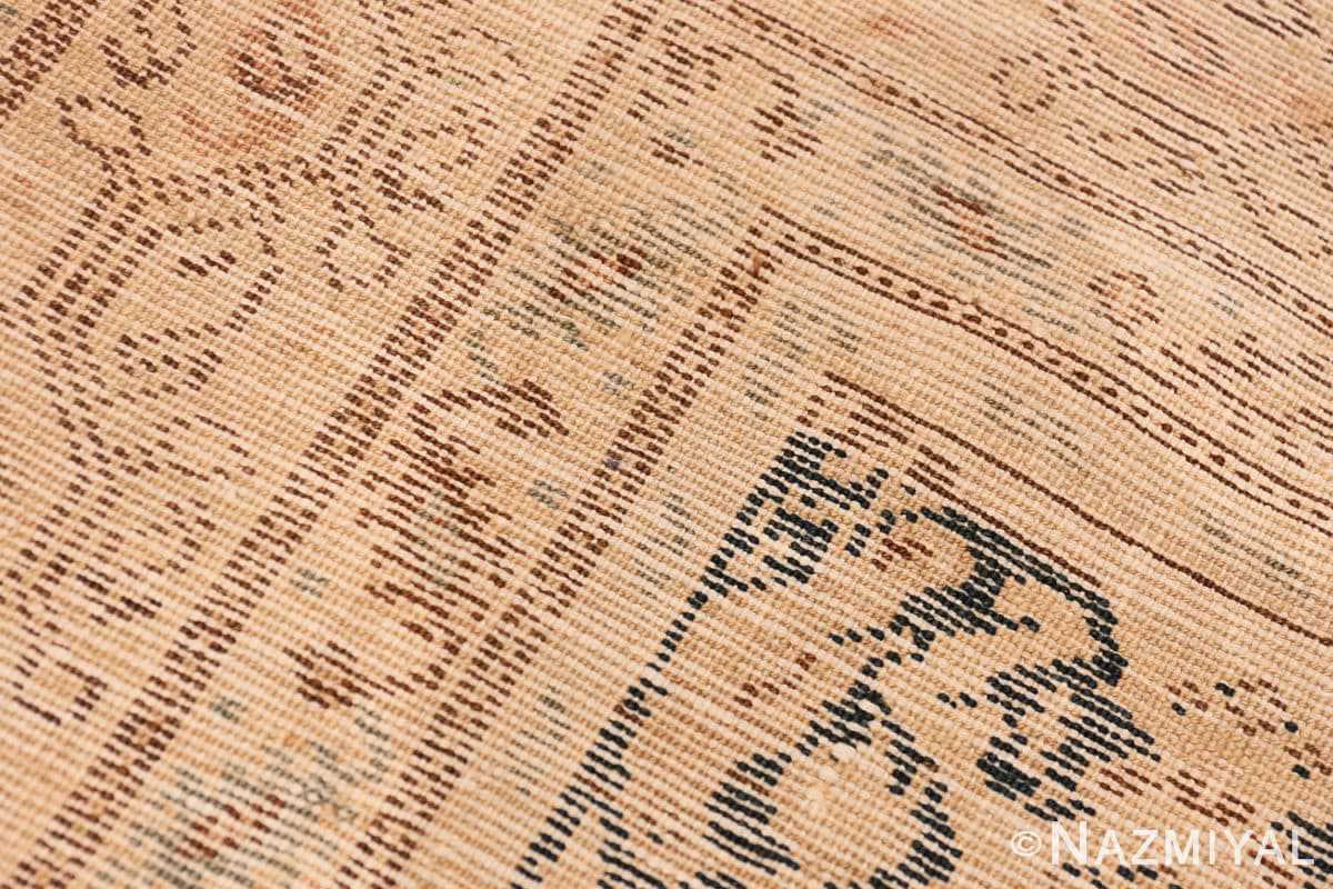 Weave detail Antique gallery size Tribal Persian Malayer rug 50662 by Nazmiyal