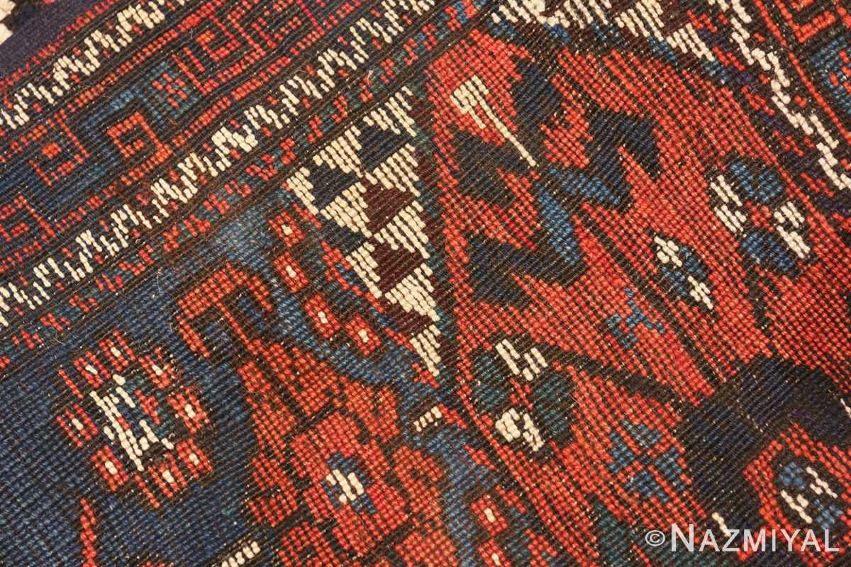 Weave detail Colletible Antique Turkish Bergama rug 48884 by Nazmiyal