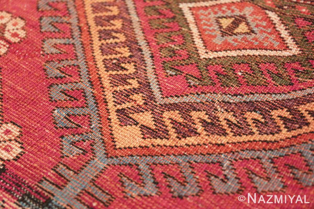 Weave detail Tribal Antique Turkish Kisheshir runner rug 48883 by Nazmiyal