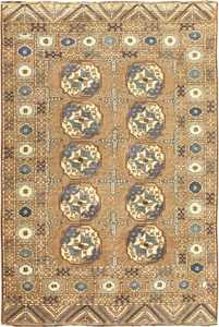 Beautiful Earthtone Antique Afghan Rug 48780 Nazmiyal