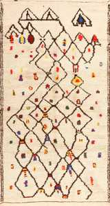 Colorful Vintage Moroccan Berber Shag Rug 48953 Nazmiyal