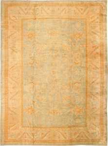 Decorative Antique Turkish Oushak Rug 48941 Nazmiyal