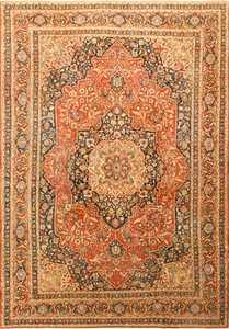 Fine Antique Persian Tabriz Central Medallion Rug 50663 Nazmiyal