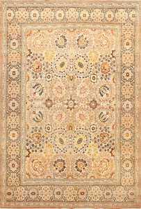 Fine Room Size Antique Persian Tabriz Rug 50696 Nazmiyal