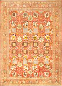 Fine Vase Design Antique Persian Tabriz Rug 48868 Nazmiyal