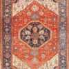 Large Geometric Antique Persian Heriz Serapi Rug 48849 Detail/Large View