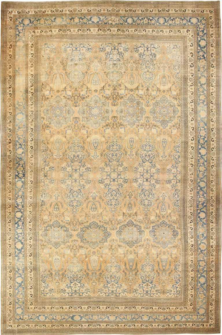 Large Oversized Antique Oriental Persian Khorassan Rug 47699 Nazmiyal