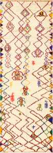 Vintage Beni Ourain Shaggy Moroccan Rug 48949 Nazmiyal