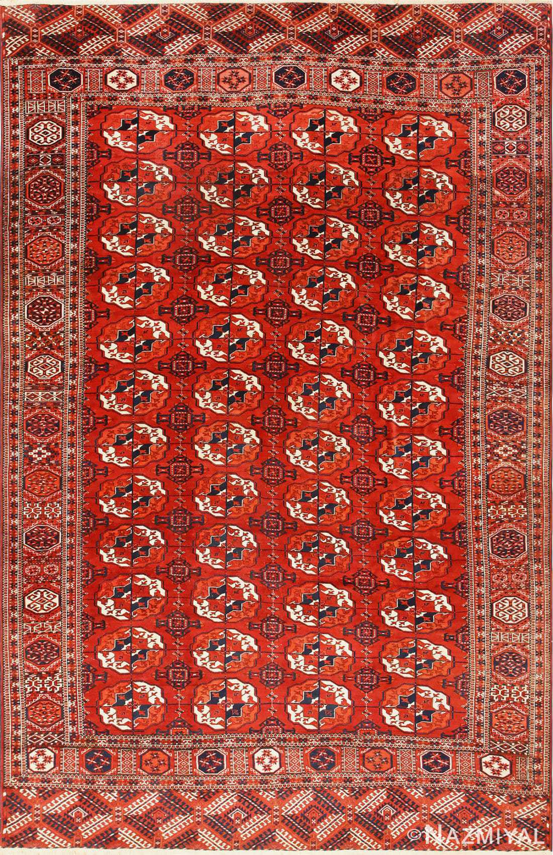 Antique Caucasian Turkoman Bokara Rug 50526 Nazmiyal
