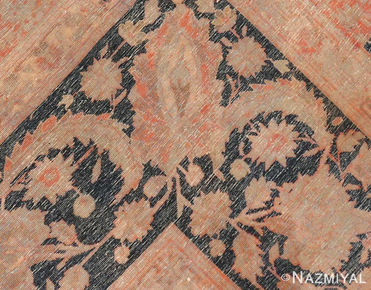 Back detail large antique Persian Mohtashem Kashan rug 48844 by Nazmiyal