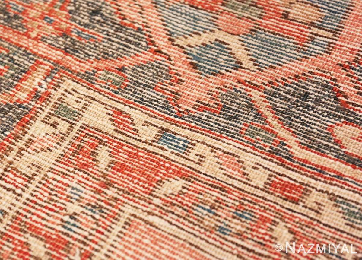 Back detail Large geometric Antique Persian Herz Serapi rug 48175 by Nazmiyal