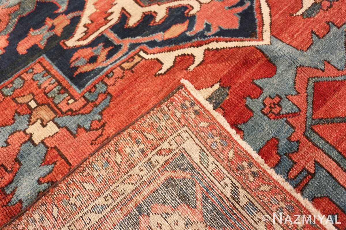 Weave Large geometric Antique Persian Herz Serapi rug 48175 by Nazmiyal