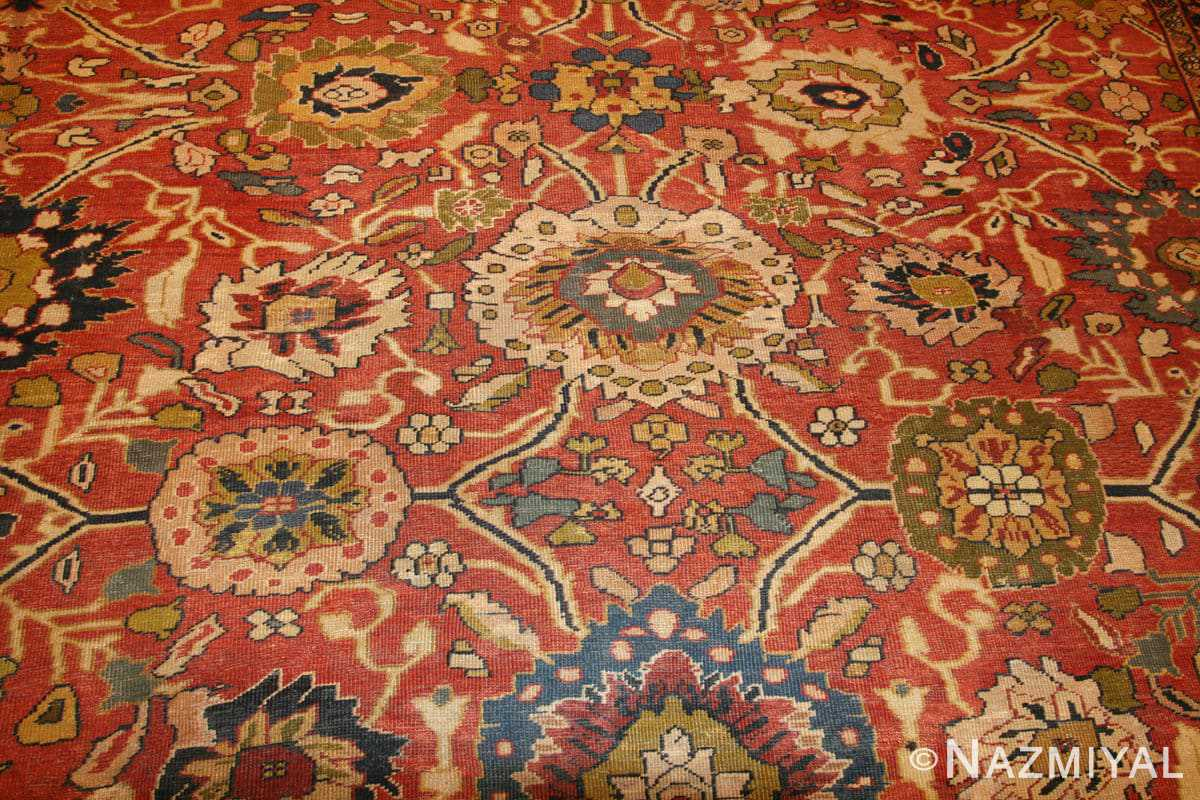 Background Oversized Antique Persian Sultanabad rug 47700 by Nazmiyal