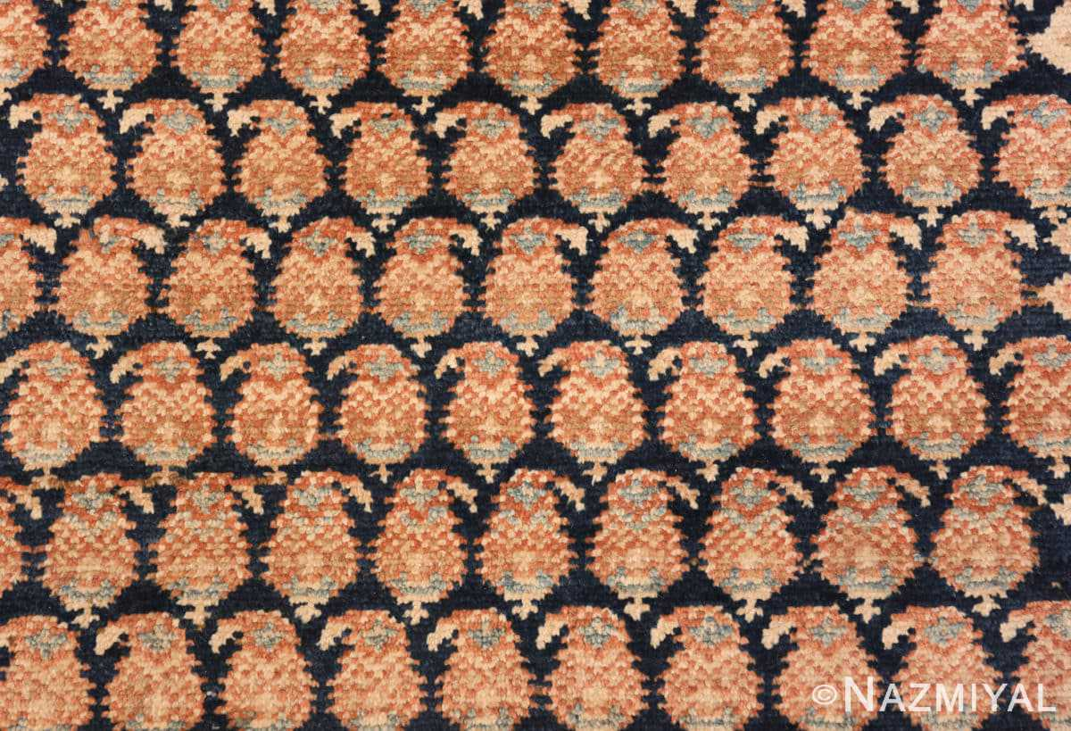 Background Tribal Paisley design Antique Persian Malayer runner rug 50671 by Nazmiyal