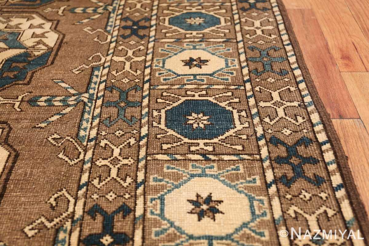 Beautiful Earthtone Antique Afghan Rug 48780 Border Design Nazmiyal