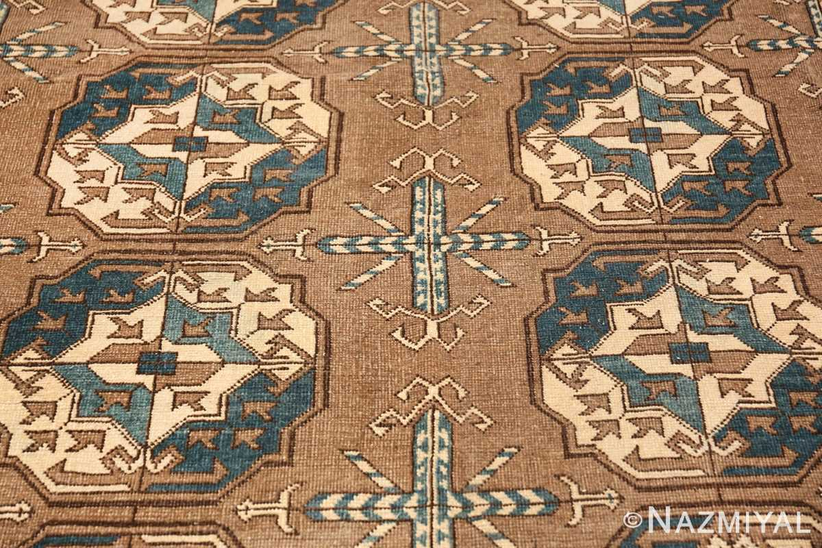 Beautiful Earthtone Antique Afghan Rug 48780 Closeup Shot Nazmiyal