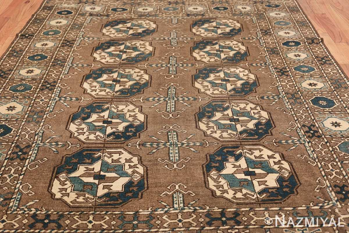 Beautiful Earthtone Antique Afghan Rug 48780 Field Wide Shot Nazmiyal