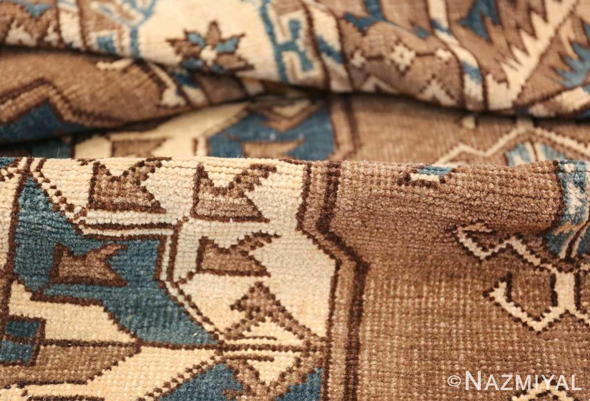 Beautiful Earthtone Antique Afghan Rug 48780 Geometric Pile Nazmiyal