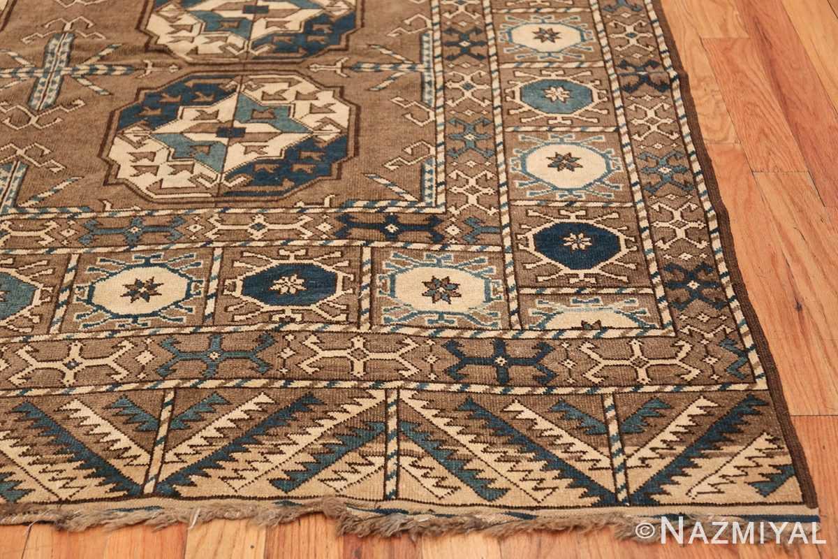 Beautiful Earthtone Antique Afghan Rug 48780 Side Corner Nazmiyal