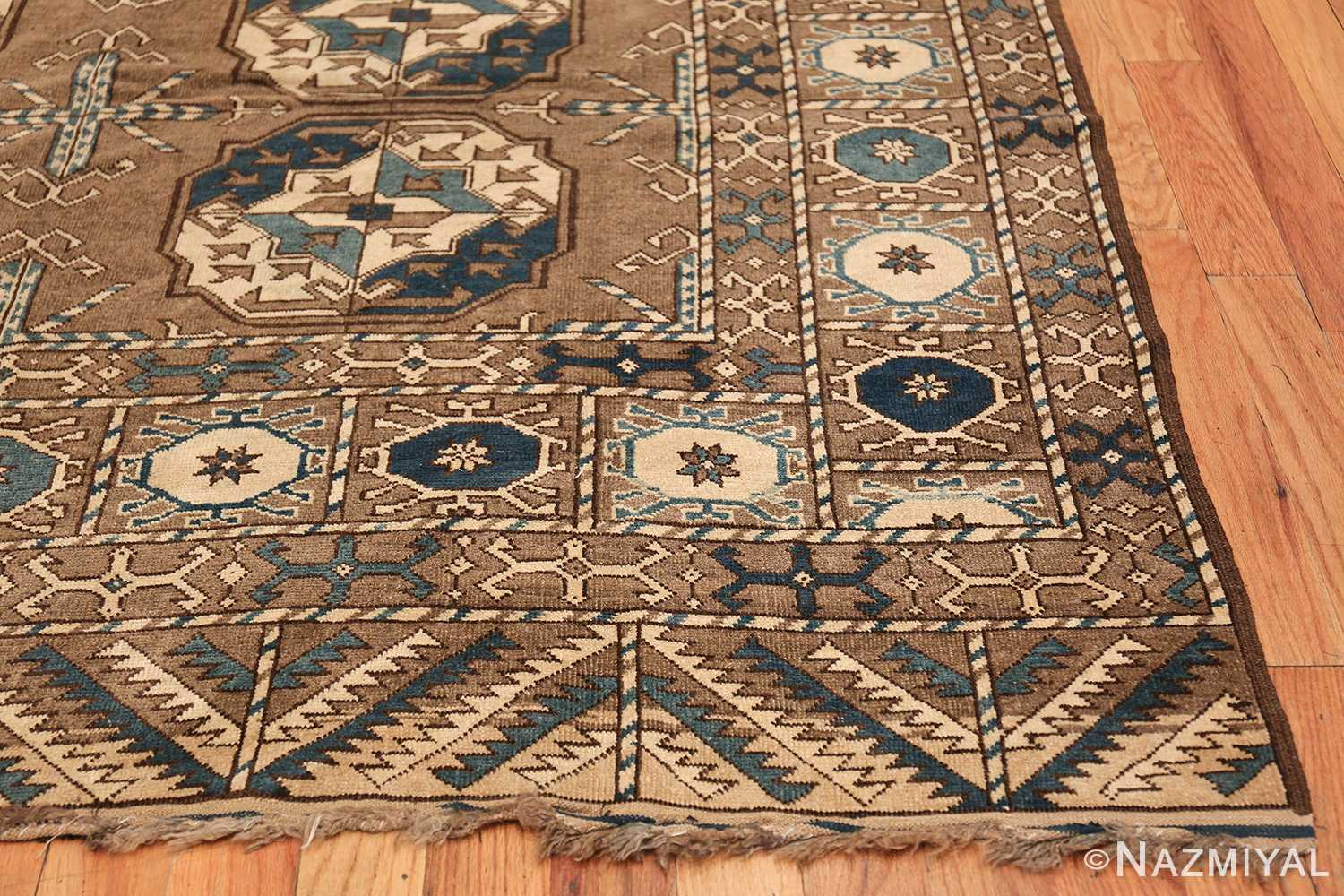 Beautiful Tribal Earthtone Antique Afghan Rug 48780 By