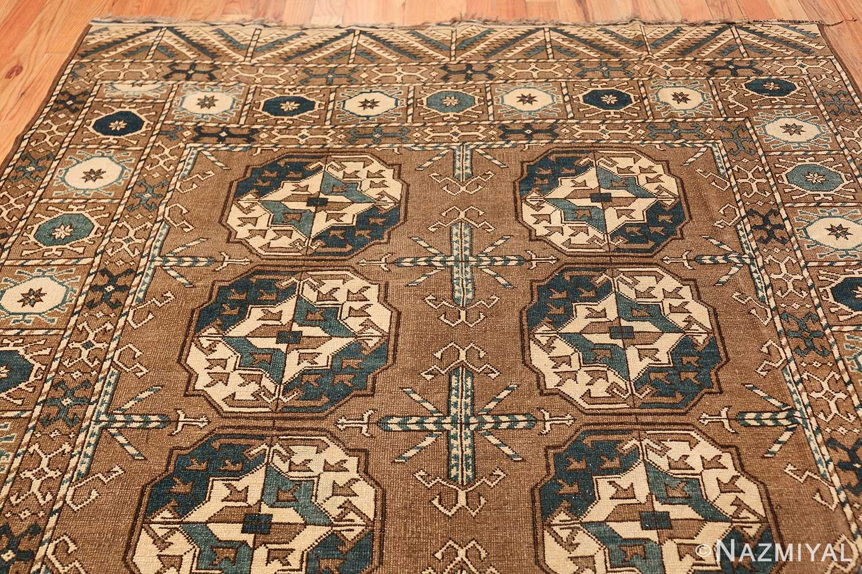 Beautiful Earthtone Antique Afghan Rug 48780 Top Design Nazmiyal