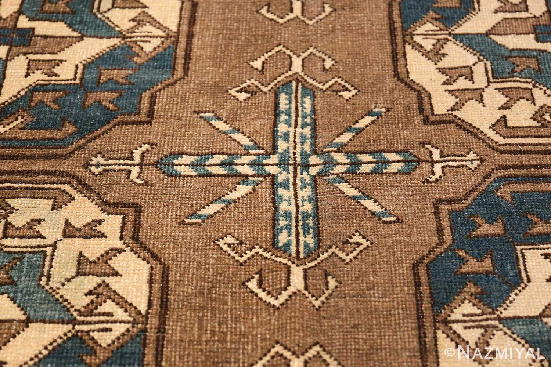 Beautiful Earthtone Antique Afghan Rug 48780 Tribal Cross Nazmiyal