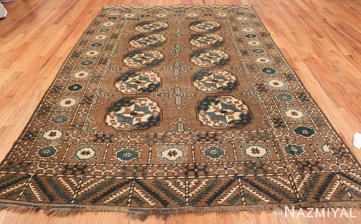 Beautiful Earthtone Antique Afghan Rug 48780 Whole Design Nazmiyal