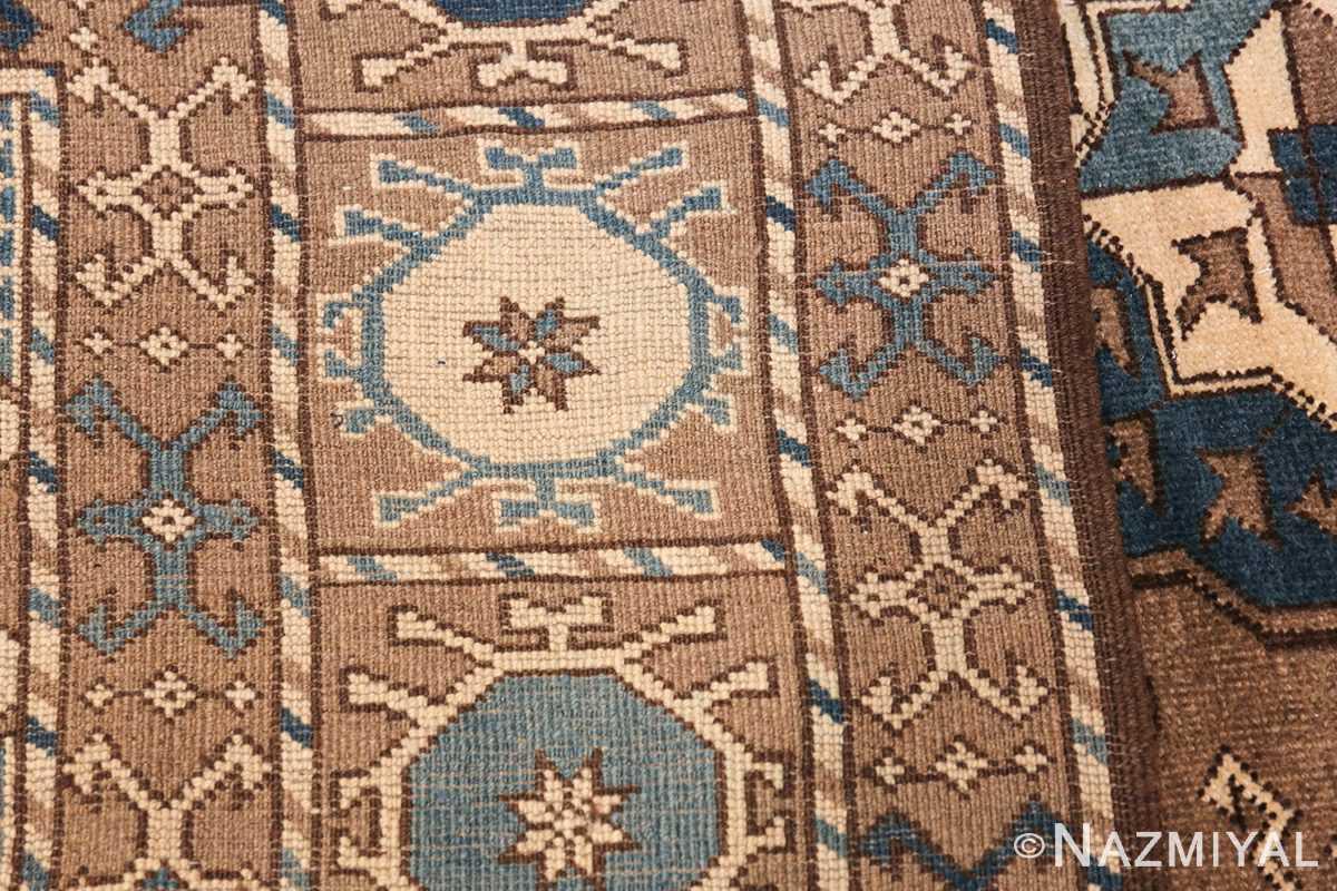 Beautiful Earthtone Antique Afghan Rug 48780 Woven Knots Nazmiyal