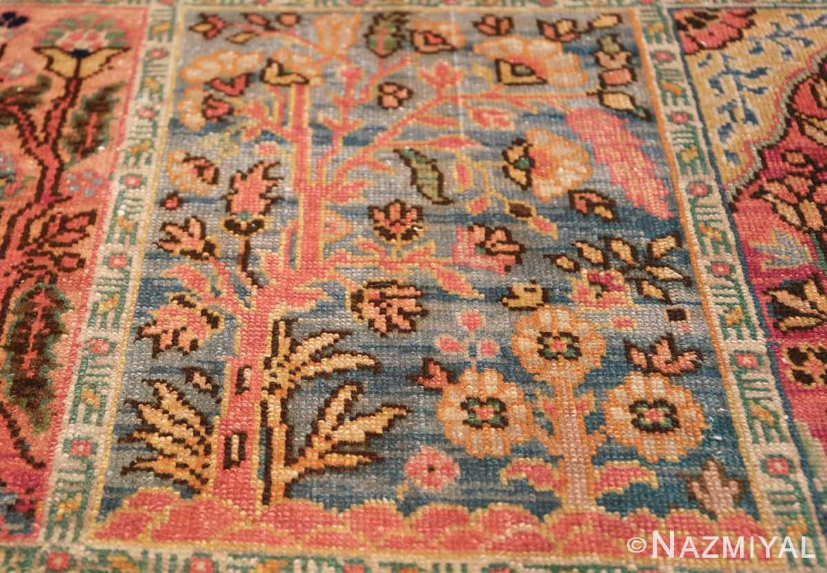 Beautiful Room Size Antique Israeli Bezalel Rug 48947 Blue Window Nazmiyal