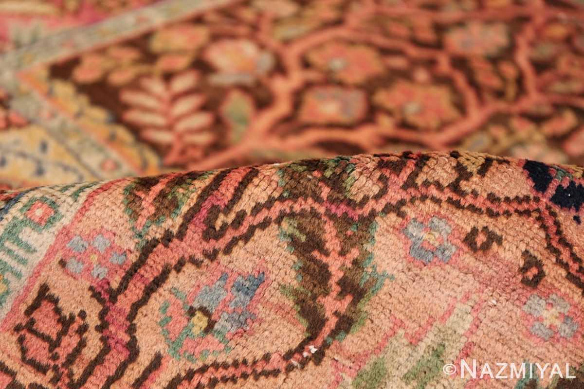 Beautiful Room Size Antique Israeli Bezalel Rug 48947 Floral Pile Nazmiyal