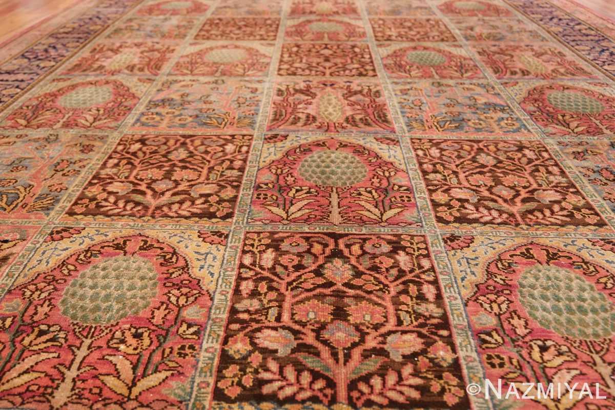 Beautiful Room Size Antique Israeli Bezalel Rug 48947 Lines Pattern Nazmiyal