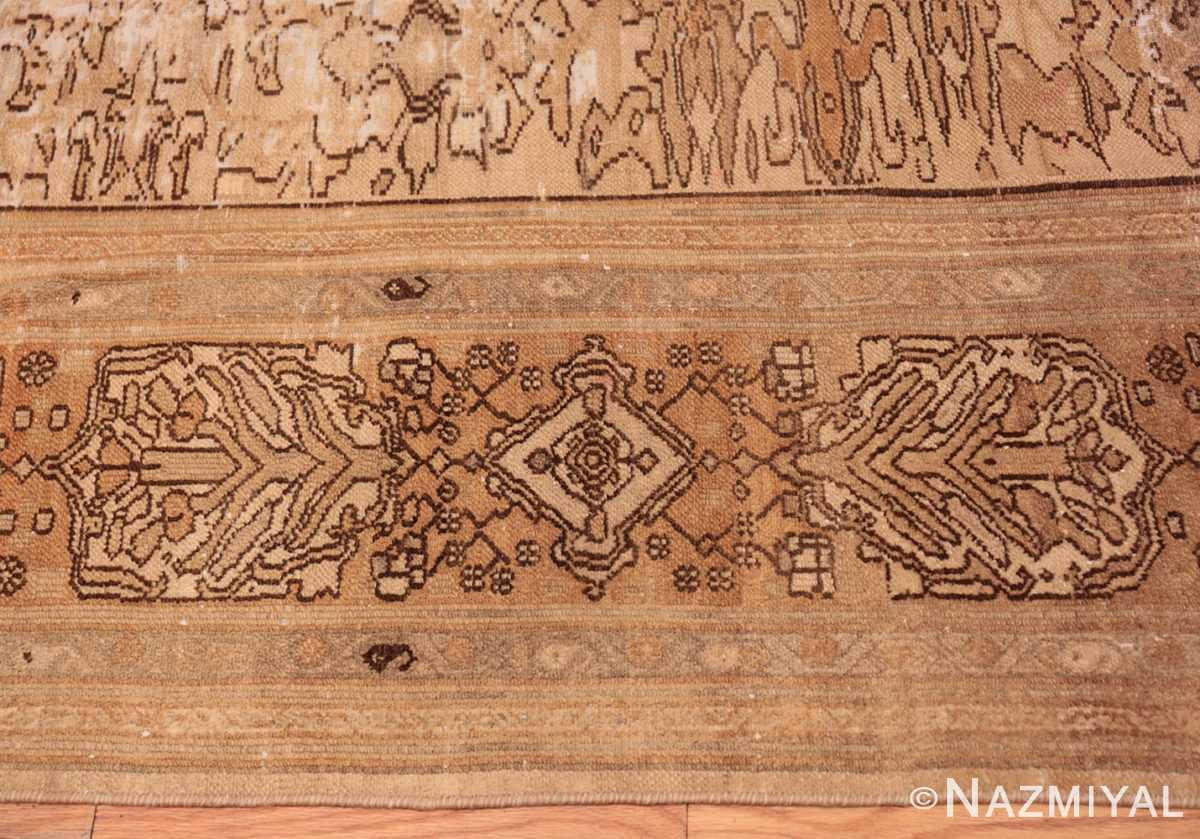 Border Decorative Antique Persian Bibkabad Shabby chic rug 50680 by Nazmiyal