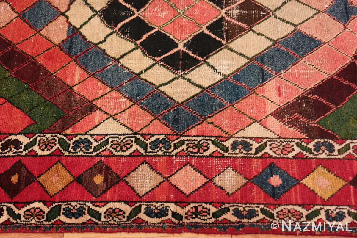 Border Diamond design Vintage Tribal Persian Shabby Chic Gabbeh rug 48963 by Nazmiyal