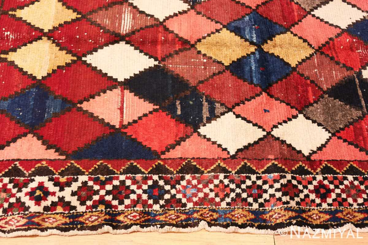 Border Diamond Shabby Chic Vintage Persian Gabbeh rug 48974 by Nazmiyal